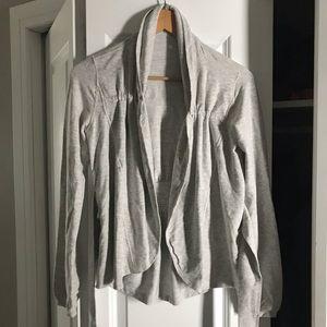 Lululemon White/Grey Cardigan